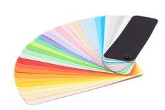 Farbpalette lokalisiert Lizenzfreie Stockfotografie