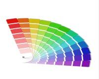 Farbpalette lokalisiert auf weißem Hintergrund Stockbilder