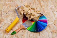 Farbpalette und -werkzeuge Stockbild