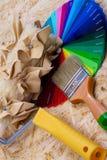 Farbpalette und -werkzeuge Lizenzfreie Stockfotos