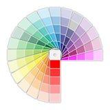 Farbpaletten-Ikone Stockfoto
