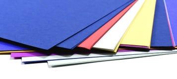 Farbpapierblattvorrat Lizenzfreie Stockbilder