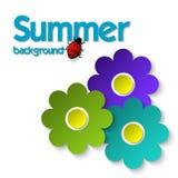 Farbpapierblumen Universalschablone für Grußkarte, Webseite, Hintergrund Stock Abbildung