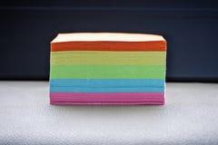 Farbpapiere stockbilder