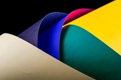 Farbpapierhintergrund Stockfotos
