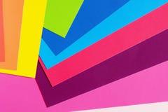 Farbpappe für Kreativität Mehrfarbiger Hintergrund Schulbedarf für Anwendungen lizenzfreie stockfotografie