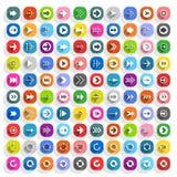 Farbpfeilikone in der flachen Art Lizenzfreie Stockfotos