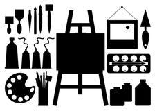Farbpinsel-Vektorabstrakte kunst Stockfotografie