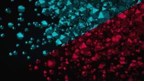 Farbplatonische Zusammensetzung der Zusammenfassungs-3D, Hintergrund, übertragend Stockfotos