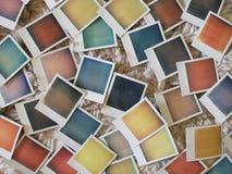 Farbpolaroid-Fotos Stockbild