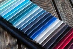 Farbproben eines Gewebes Stockfotografie