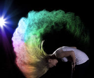 Farbpulver-Fotoaufnahme Lizenzfreie Stockfotos