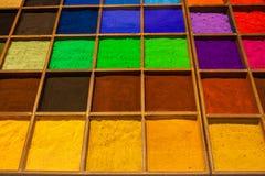Farbpulvershop Stockfotografie