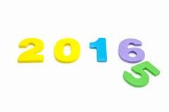 2016 Farbpuzzlespiel lokalisiert Lizenzfreie Stockfotografie