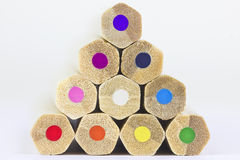 Farbpyramide Stockbild