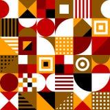 Farbquadrate, Dreiecke, Rechtecke, Kreise Vector nahtloses Muster Einfache geometrische Formen Textilfarbe repetitive vektor abbildung