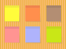 Farbquadratische Aufkleber Stockfotos