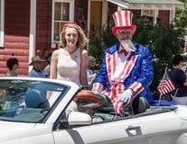 Farbror Sam på 4th Juli Royaltyfria Bilder