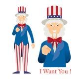 Farbror Sam Want You royaltyfri illustrationer