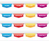 Farbsatz der Navigationsaufkleber Stockbilder