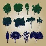 Farbsatzbäume des Vektor Illustration Stockfotografie