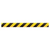 Farbschattenbild mit warnendem Band lizenzfreie abbildung