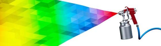 Farbspritzpistole Stockbild