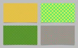 Farbstellte abstrakter Tupfen-Mustervisitenkartehintergrund ein - vector grafische Identifikations-Karte Stockfoto