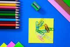 Farbstifte in den verschiedenen Farben Stockbild