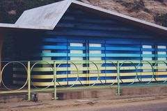 Farbstrandhütte Lizenzfreies Stockbild