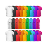 Farbt-shirts Front View Vector Set Isolated Lizenzfreie Stockbilder