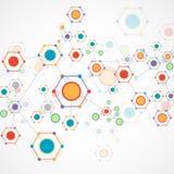 Farbtechnologie-Kommunikationshintergrund Lizenzfreies Stockbild