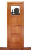 Farbton des Fremden auf dem Fenster der Tür Stockbilder