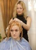 Farbton des Haares Stockfoto