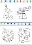 Farbton durch Zahlen. Satz 2 Lizenzfreie Stockbilder