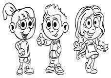 Farbton-Seite ` Schulkinder-Reihe ` Lizenzfreies Stockfoto