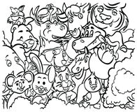 Farbton-Seite ` Tier-Reihe ` Stockbild