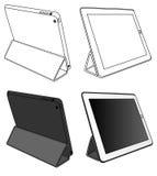 Farbton-Tablet-PC lokalisiert Stockbild