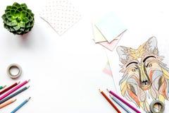 Farbtonbild für Erwachsene auf weißem Draufsichtmodell des Hintergrundes Lizenzfreies Stockfoto
