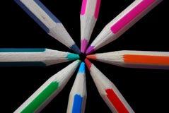 Farbtonbleistifte Stockbild