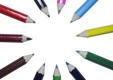 Farbtonbleistifte Lizenzfreies Stockbild