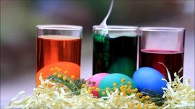 Farbtoneier für Ostern stock footage