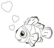 Farbtonfische in der Liebe lizenzfreie abbildung