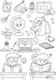 Farbtonschuleelemente für Kleinkinder Lizenzfreie Stockbilder