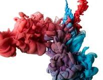 Farbtropfen des Wassers lizenzfreie stockfotos