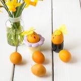 Farbujący naturalny sposób z turmeric dla musztardy - żółta kolor wielkanoc Obraz Royalty Free