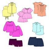 Farbvektor scherzt Kleidung Lizenzfreie Stockbilder