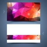 Farbvisitenkarteschablone Stockfoto