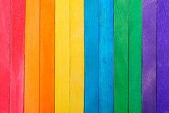 Farbvoller hölzerner Hintergrund Lizenzfreie Stockbilder