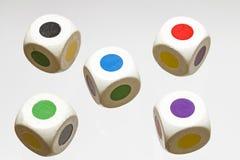 Farbwürfel Stock Fotografie